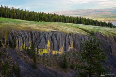 A landscape photograph of the Reecer Creek Canyon on Table Mountain overlooking the Kittitas Valley near Ellensburg, Washington.