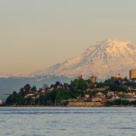 Mt Rainier, Puget Sound, Tacoma, Washington, 2014