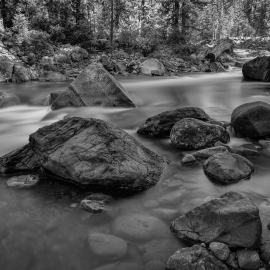 River Rocks, Cle Elum River, Washington, 2012