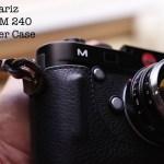 The Gariz Leica M 240 Black Label Leather Half Case
