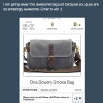 GIVEAWAY! Win an On a Bowery Bag in Smoke!
