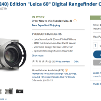 The Leica M 60 Special Edition. Now $2200 OFF!