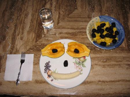 Raw food diet day 1 dinner