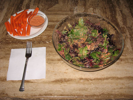 Raw food diet day 7 lunch