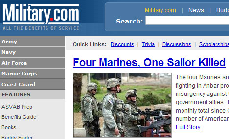 Military.com Screenshot