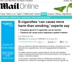 Lazy, stupid, inaccurate – the Mail on Sunday on e-cigarettes « Clive Bates blog