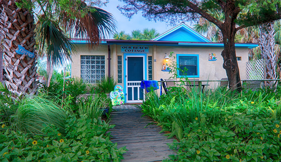 our beach cottage exterior