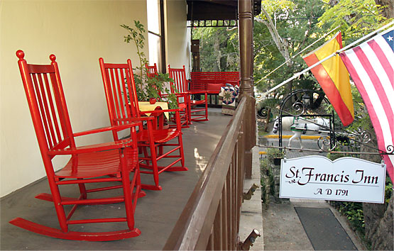 Second Floor Balcony with rocking chairs and a swing chair