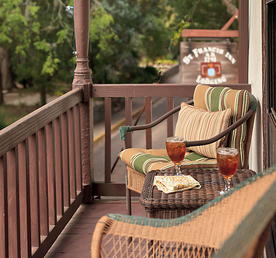 Balcony Room outdoor seating on its private balcony porch