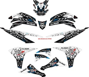 striping motor honda cs1 tribal