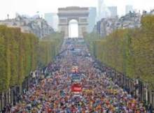 Paris Marathon 2014 start