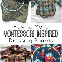 How to Make Montessori Inspired Dressing Boards