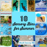 10 Sensory Bins for Summer