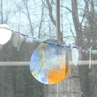 Watercolor Drip Painted Easter Egg Garland