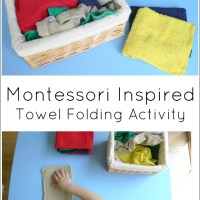 Montessori Inspired Towel Folding Activity