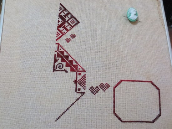 third round of stitching on my token of love