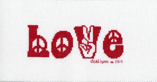 Retro Love Stitched by Vicki