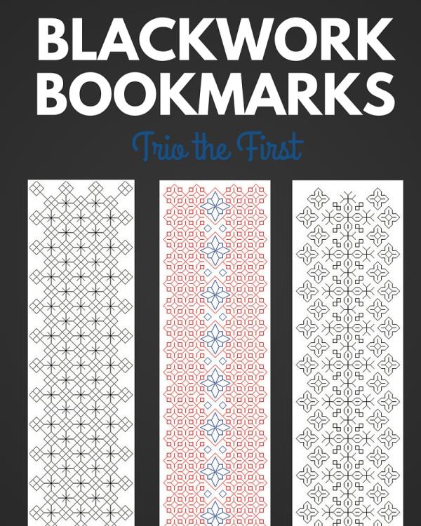 blackwork bookmark cross stitch pattern preview