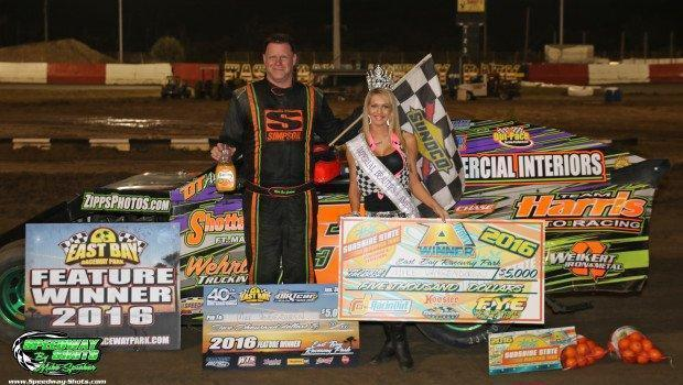 Mike VanGenderen grabs $5,000 to win UMP DIRTcar Modified Sunshine State Modified Tour victory at East Bay Raceway Park!