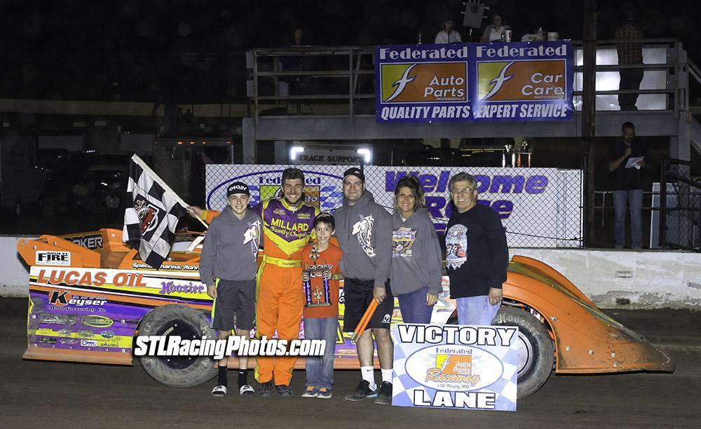 Gordy Gundaker, Dean Hoffman, Jeff LeBaube, Chris Soutiea, Joe Laws, Klay Buckley & Terry Gallaher take wins at Federated Auto Parts Raceway at I-55