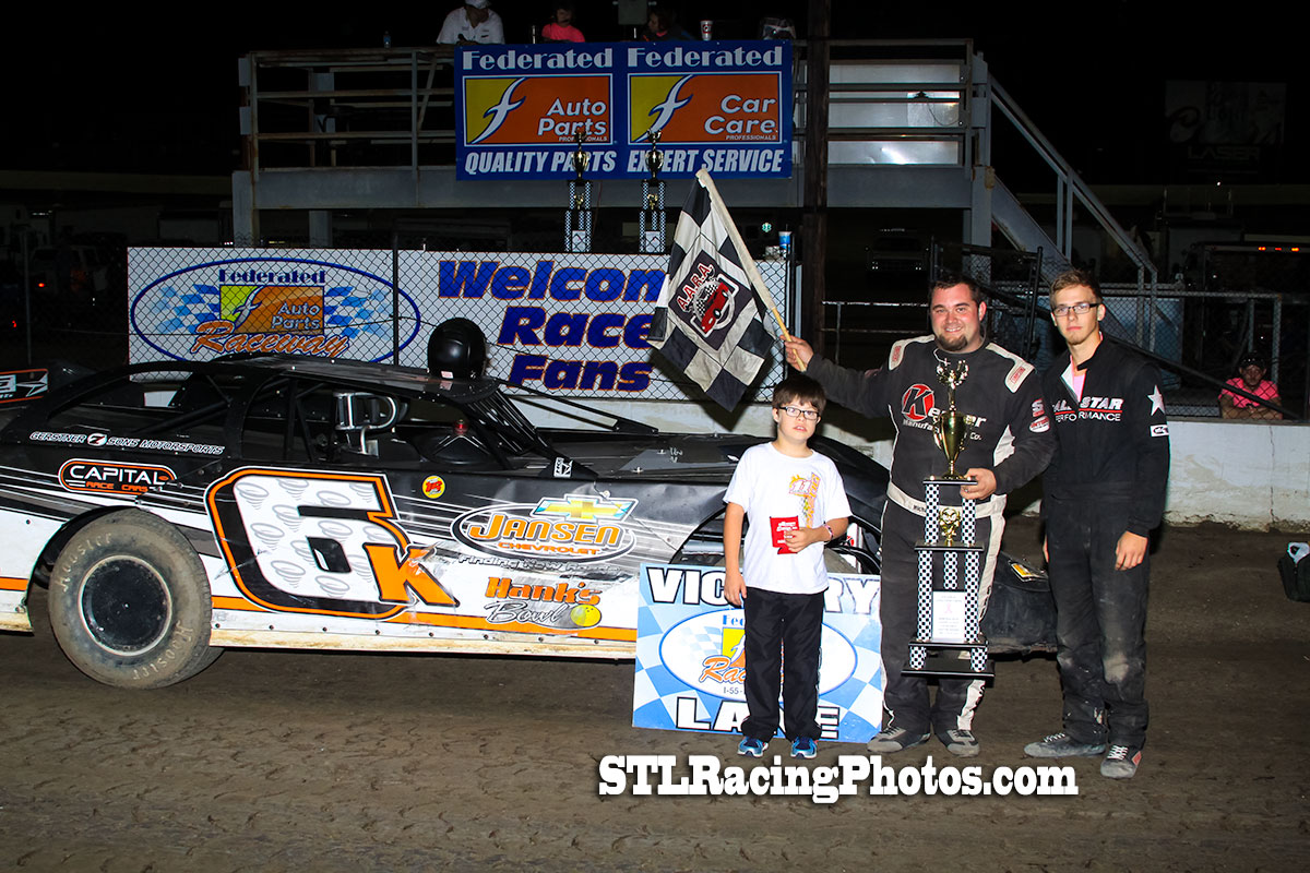 Michael Kloos, Michael Long, Jeff LeBaube, Troy Medley & Dallas Lugge take wins at Federated Auto Parts Raceway at I-55!