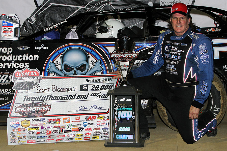 Scott Bloomquist Bags Jackson 100 at Brownstown