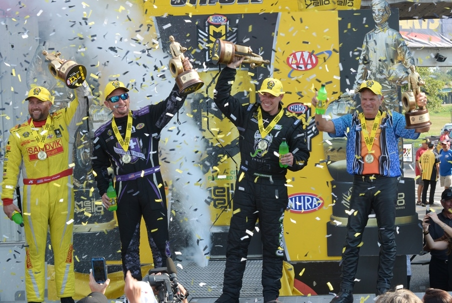Langdon, Beckman, Laughlin, Savoie Win at AAA Insurance NHRA Midwet Nationals at Gateway Motorsports Park