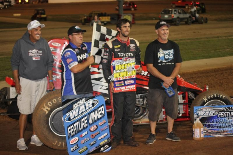 Herrera, Daum prevail as Hockett/McMillin Memorial opens at Lucas Oil Speedway