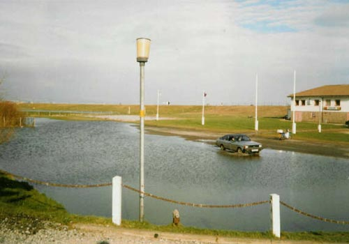 Flooded car park, 1989