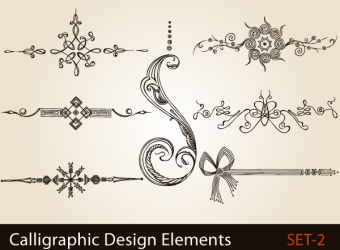 calligraphic-design-elements-page-decoration-vector-illustration-s2