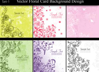 vector-floral-card-background-design-set-1
