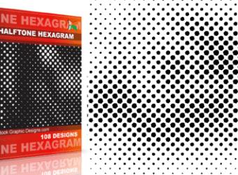 vector_and_brush_halftone_hexagram