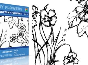 vector_sketchy_flowers_3_
