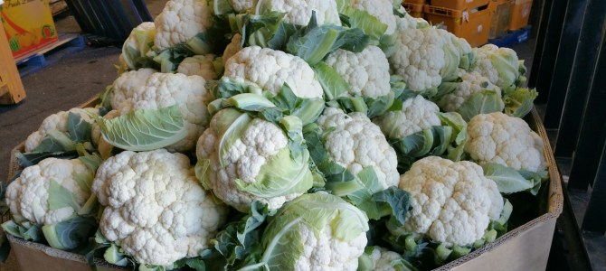 Cauliflower: $1 each for the weekend!