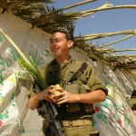 IDF-soldiers-with-the-four-species-outside-a-sukkah