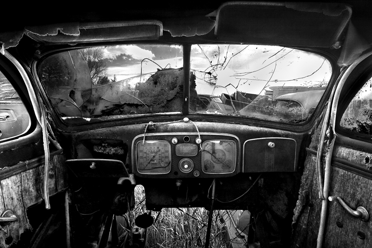 Old Car Interior. Image by Cole Thompson.