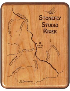 Custom Designed New River Map Fly Box