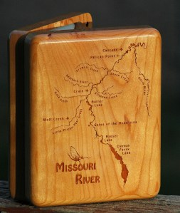 Missouri River Map Fly Box Front