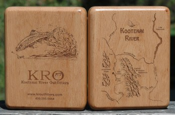 Kootenai River Map Customized Fly Box