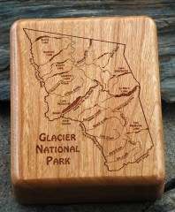 Glacier National Park River Map Fly Box