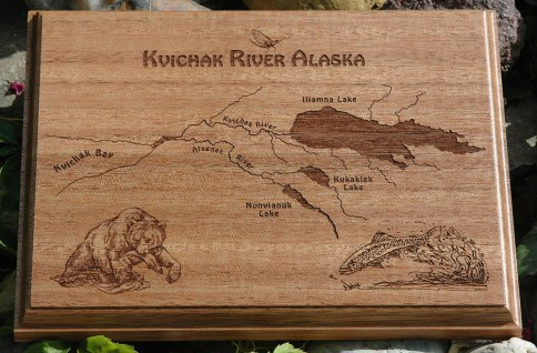 Kvichak River River Map Plaque