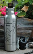 Upper Yellowstone River Map Beer Bottle Bottle Holder - Montana