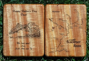 Personalized Blackfoot River Map Fly Box