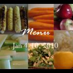 Menu Jan 4-10, 2010