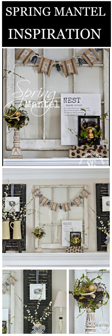 SPRING MANTEL-Spring mantel inspiration-stonegableblog.com