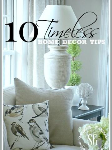10 TIMELESS HOME DECOR TIPS