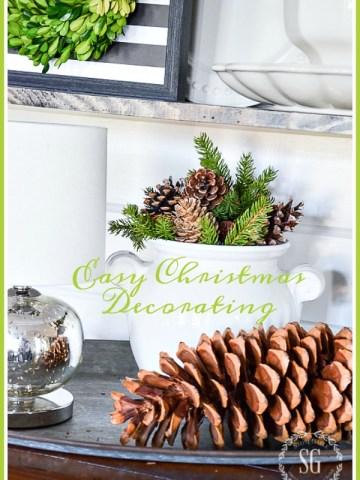 EASY CHRISTMAS DECORATING