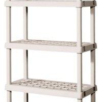 Sterilite 5-Shelf Shelving Unit - 75.125 x 36 x 18 Inches - Platinum