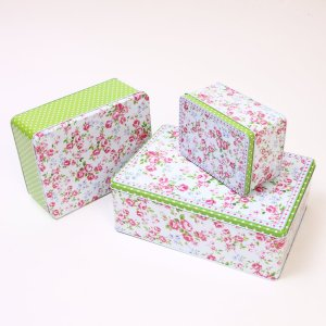 Floral Party Cake Tin Set