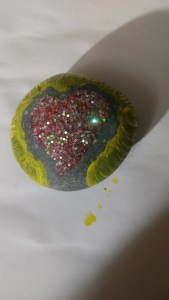 sparkle heart rock